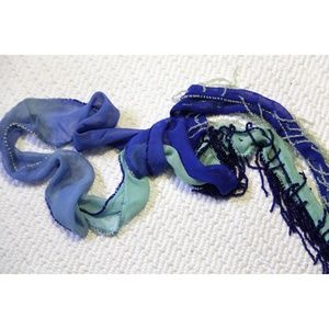 Chan Luu Accessories - Vintage Chan Luu 'Boho Mermaid' Shadow-Dye Scarf